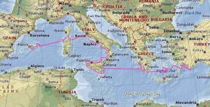 Cruising The Mediterranean 2007 Malua Track